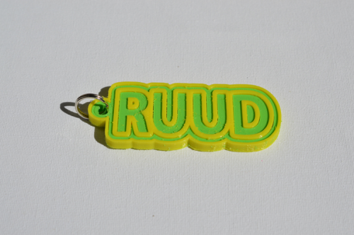 First Additional product image for - Ruud Single & Dual Color 3D Printable Keychain-Badge-Stamp