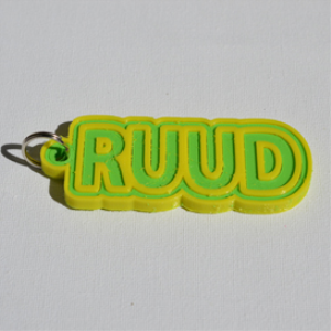 ruud single & dual color 3d printable keychain-badge-stamp