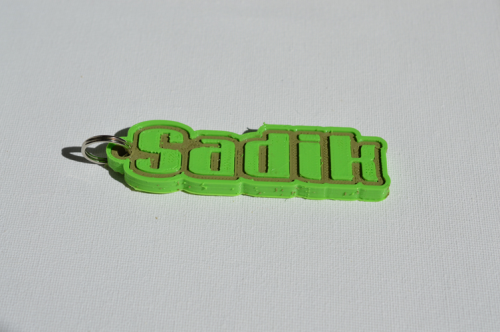First Additional product image for - Sadik Single & Dual Color 3D Printable Keychain-Badge-Stamp