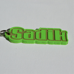 Sadik Single & Dual Color 3D Printable Keychain-Badge-Stamp | Software | Mobile