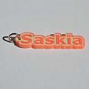 Saskia Single & Dual Color 3D Printable Keychain-Badge-Stamp | Other Files | Everything Else