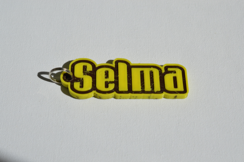 First Additional product image for - Selma Single & Dual Color 3D Printable Keychain-Badge-Stamp