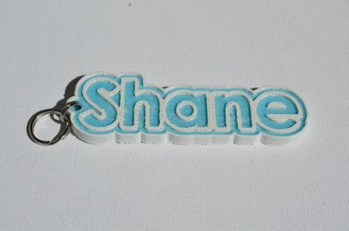 First Additional product image for - Shane Single & Dual Color 3D Printable Keychain-Badge-Stamp