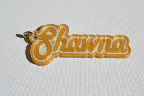 First Additional product image for - Shawna Single & Dual Color 3D Printable Keychain-Badge-Stamp