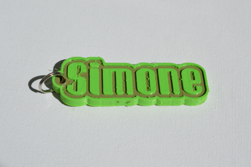 First Additional product image for - Simone Single & Dual Color 3D Printable Keychain-Badge-Stamp
