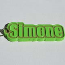 Simone Single & Dual Color 3D Printable Keychain-Badge-Stamp   Other Files   Everything Else