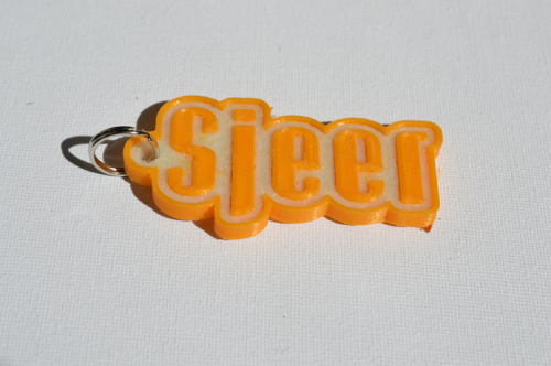 Third Additional product image for - Sjeer Single & Dual Color 3D Printable Keychain-Badge-Stamp