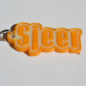 Sjeer Single & Dual Color 3D Printable Keychain-Badge-Stamp | Other Files | Patterns and Templates