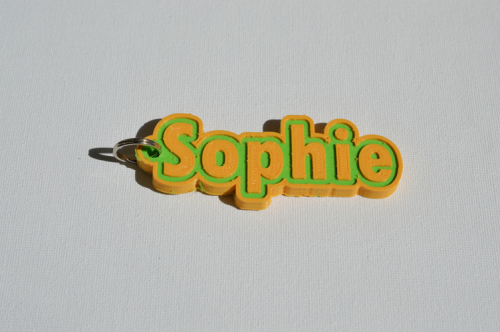 First Additional product image for - Sophie Single & Dual Color 3D Printable Keychain-Badge-Stamp