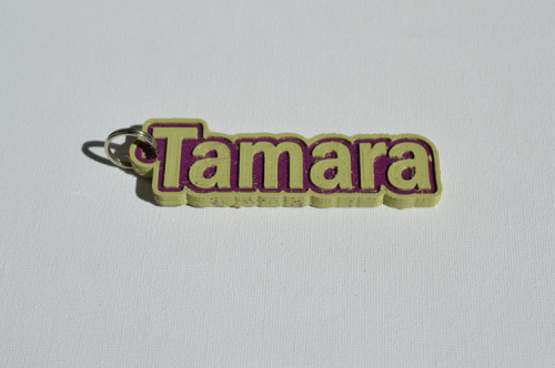 First Additional product image for - Tamara Single & Dual Color 3D Printable Keychain-Badge-Stamp