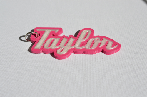 First Additional product image for - Taylor Single & Dual Color 3D Printable Keychain-Badge-Stamp