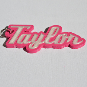 Taylor Single & Dual Color 3D Printable Keychain-Badge-Stamp | Other Files | Everything Else