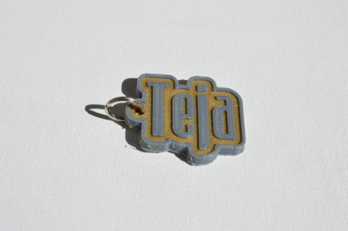 First Additional product image for - Teja Single & Dual Color 3D Printable Keychain-Badge-Stamp