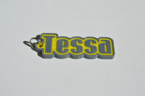First Additional product image for - Tessa Single & Dual Color 3D Printable Keychain-Badge-Stamp