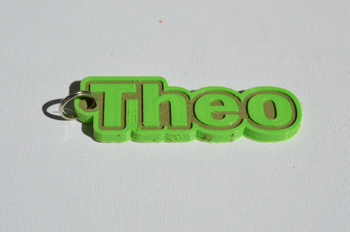 First Additional product image for - Theo Single & Dual Color 3D Printable Keychain-Badge-Stamp