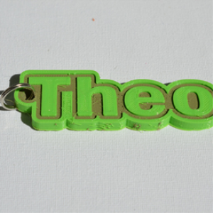 theo single & dual color 3d printable keychain-badge-stamp