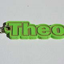Theo Single & Dual Color 3D Printable Keychain-Badge-Stamp | Other Files | Arts and Crafts