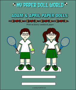 paper doll adam & april playing tennis download