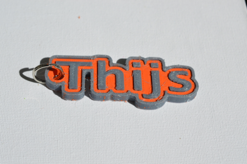 First Additional product image for - Thijs Single & Dual Color 3D Printable Keychain-Badge-Stamp