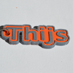 thijs single & dual color 3d printable keychain-badge-stamp