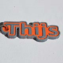 Thijs Single & Dual Color 3D Printable Keychain-Badge-Stamp | Software | Design Templates