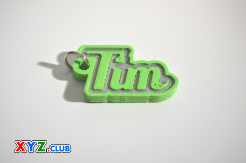 First Additional product image for - Tim Single & Dual Color 3D Printable Keychain-Badge-Stamp