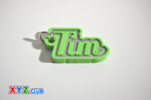 Tim Single & Dual Color 3D Printable Keychain-Badge-Stamp | Other Files | Everything Else