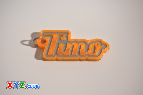 First Additional product image for - Timo Single & Dual Color 3D Printable Keychain-Badge-Stamp