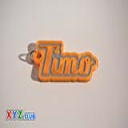 Timo Single & Dual Color 3D Printable Keychain-Badge-Stamp | Other Files | Fonts