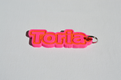 First Additional product image for - Toria Single & Dual Color 3D Printable Keychain-Badge-Stamp