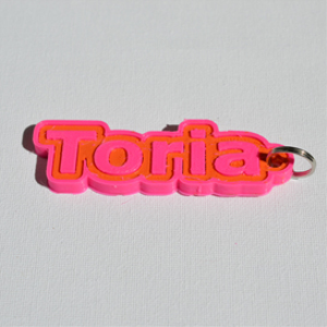 toria single & dual color 3d printable keychain-badge-stamp