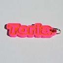 Toria Single & Dual Color 3D Printable Keychain-Badge-Stamp | Other Files | Everything Else