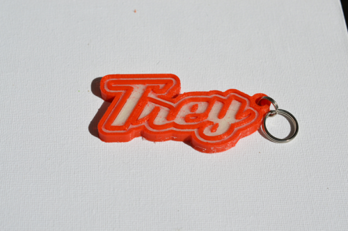 First Additional product image for - Trey Single & Dual Color 3D Printable Keychain-Badge-Stamp