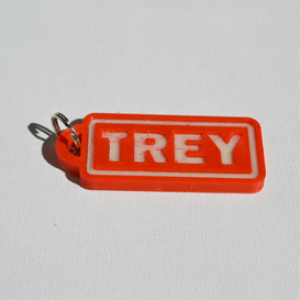 Trey Single & Dual Color 3D Printable Keychain-Badge-Stamp | Software | Design