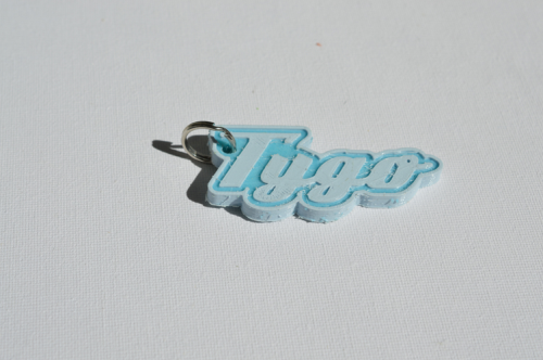 First Additional product image for - Tygo Single & Dual Color 3D Printable Keychain-Badge-Stamp