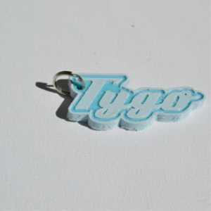 tygo single & dual color 3d printable keychain-badge-stamp