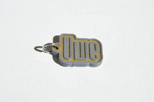 First Additional product image for - Uwe Single & Dual Color 3D Printable Keychain-Badge-Stamp