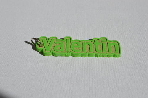 First Additional product image for - Valentin Single & Dual Color 3D Printable Keychain-Badge-Stamp