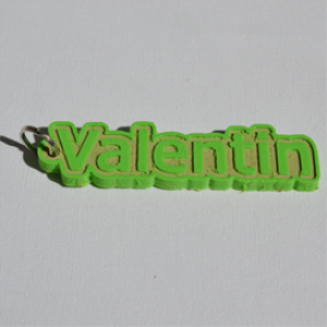 valentin single & dual color 3d printable keychain-badge-stamp