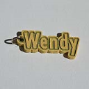 Wendy Single & Dual Color 3D Printable Keychain-Badge-Stamp | Other Files | Everything Else