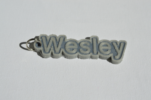 First Additional product image for - Wesley Single & Dual Color 3D Printable Keychain-Badge-Stamp