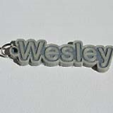 Wesley Single & Dual Color 3D Printable Keychain-Badge-Stamp | Other Files | Everything Else