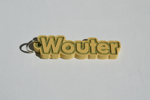 First Additional product image for - Wouter Single & Dual Color 3D Printable Keychain-Badge-Stamp
