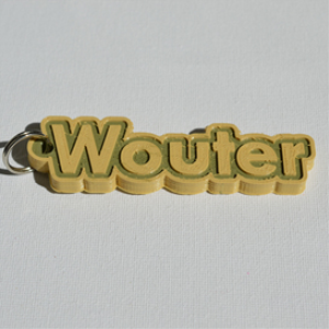 wouter single & dual color 3d printable keychain-badge-stamp