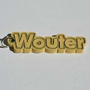 Wouter Single & Dual Color 3D Printable Keychain-Badge-Stamp | Other Files | Everything Else