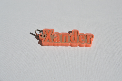 First Additional product image for - Xander Single & Dual Color 3D Printable Keychain-Badge-Stamp