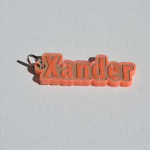 Xander Single & Dual Color 3D Printable Keychain-Badge-Stamp | Other Files | Everything Else