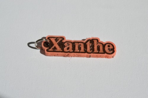 First Additional product image for - Xanthe Single & Dual Color 3D Printable Keychain-Badge-Stamp