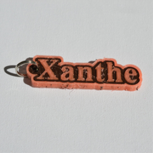 Xanthe Single & Dual Color 3D Printable Keychain-Badge-Stamp | Other Files | Graphics