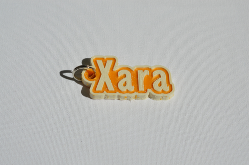 First Additional product image for - Xara Single & Dual Color 3D Printable Keychain-Badge-Stamp